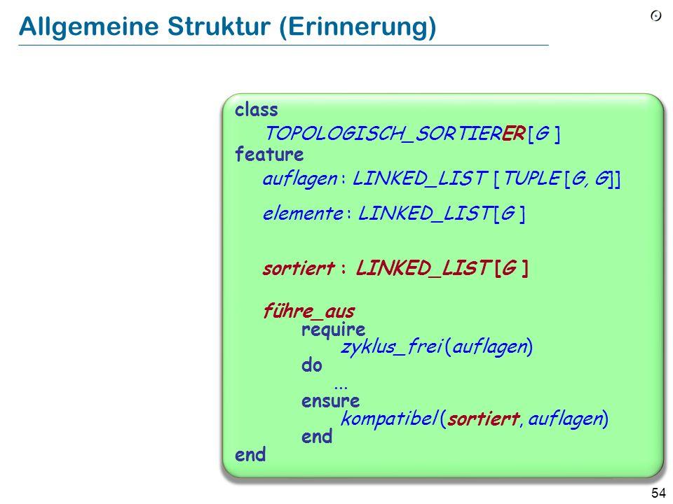 Allgemeine Struktur (Erinnerung)