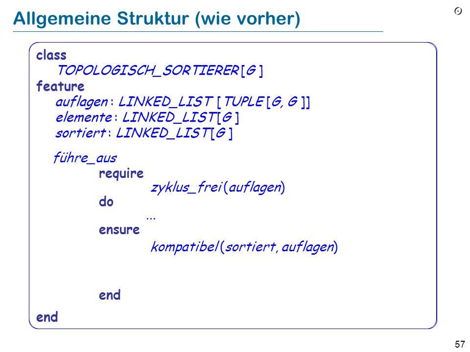 Allgemeine Struktur (wie vorher)