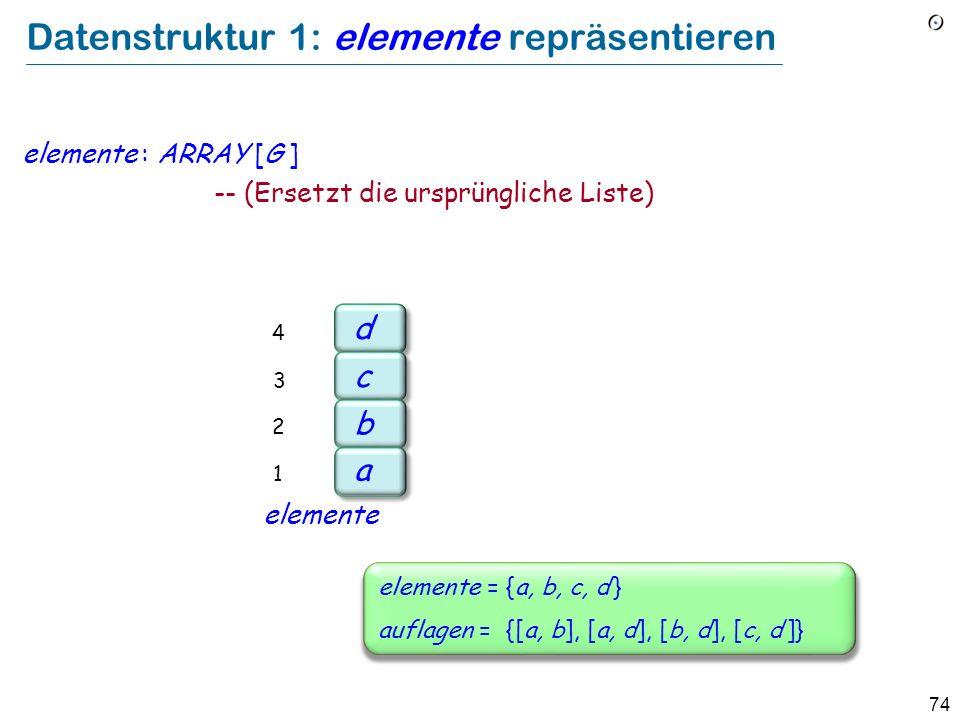 Datenstruktur 1: elemente repräsentieren