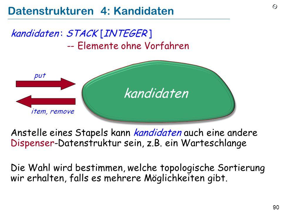 Datenstrukturen 4: Kandidaten