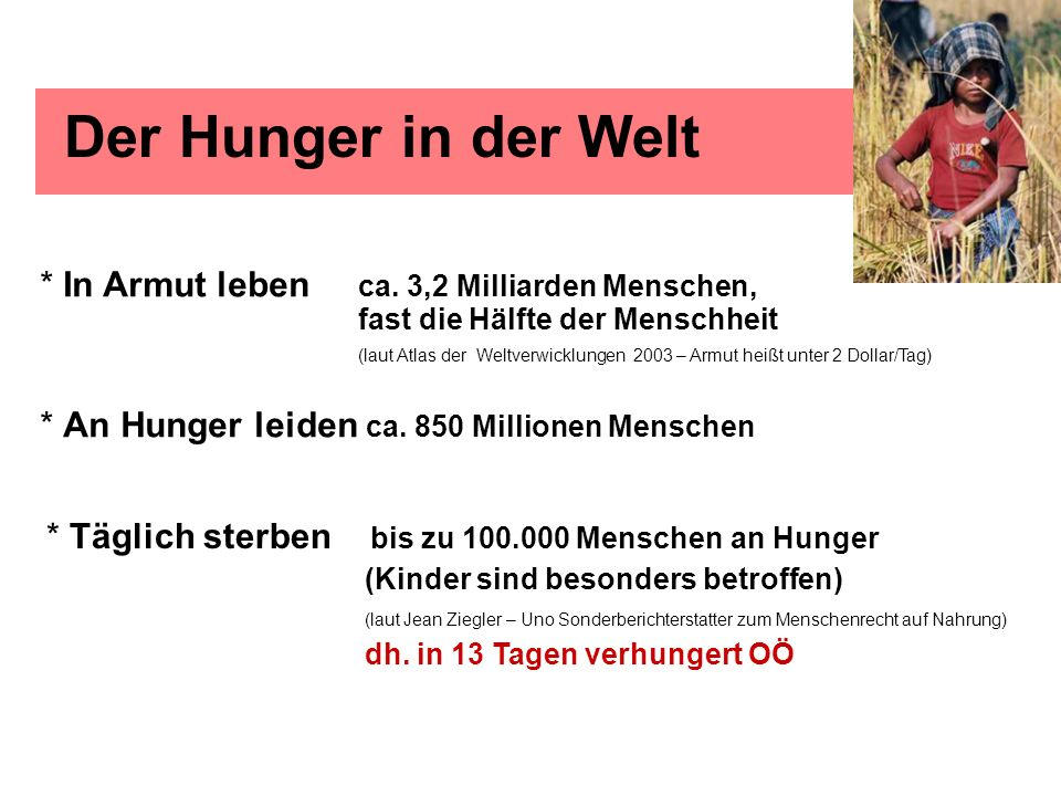 Der Hunger in der Welt