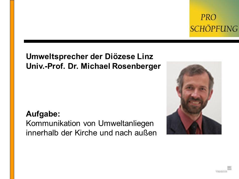 Umweltsprecher der Diözese Linz