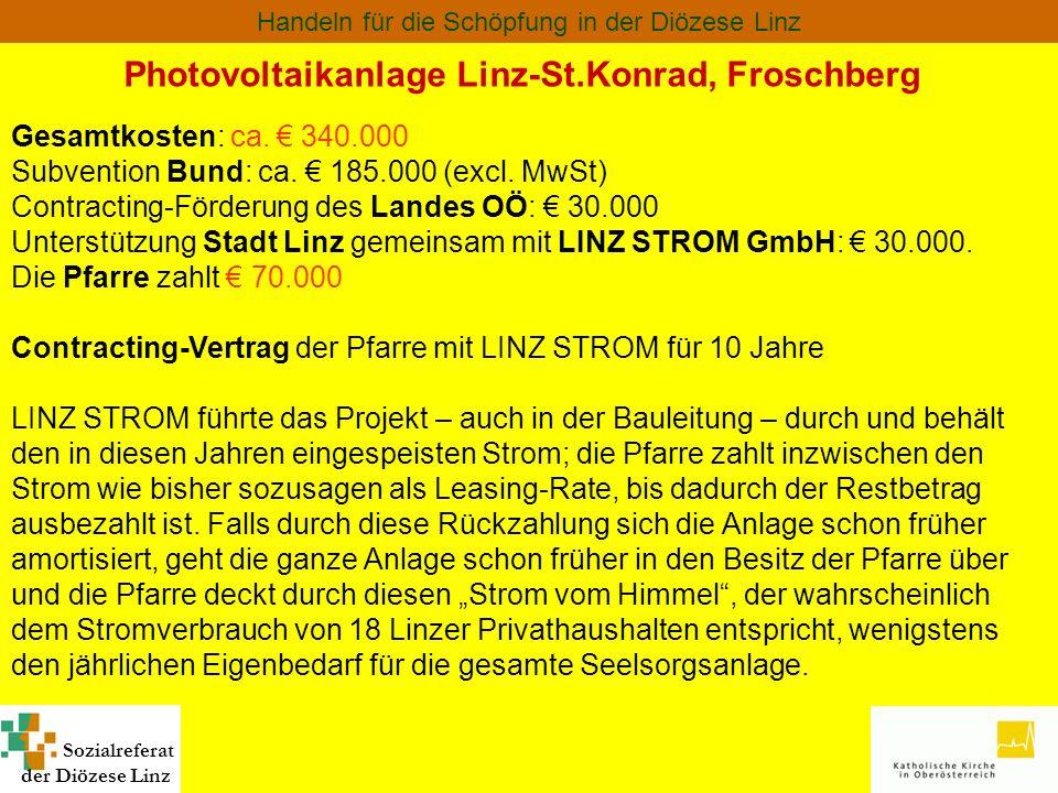 Photovoltaikanlage Linz-St.Konrad, Froschberg