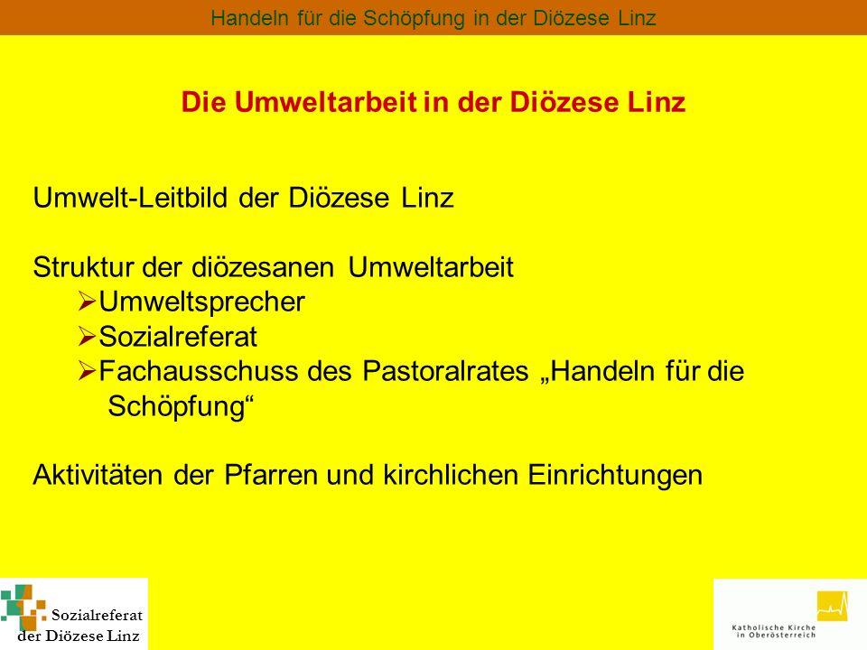 Die Umweltarbeit in der Diözese Linz