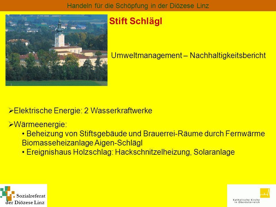 Stift Schlägl Umweltmanagement – Nachhaltigkeitsbericht