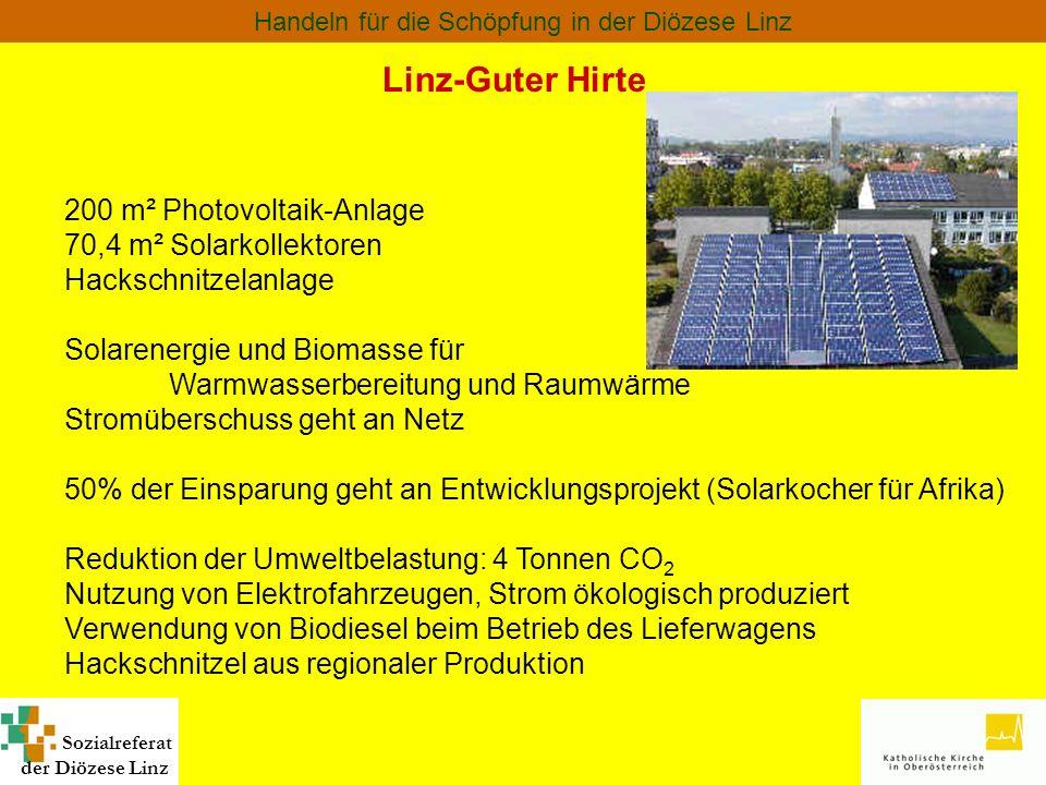 Linz-Guter Hirte 200 m² Photovoltaik-Anlage 70,4 m² Solarkollektoren