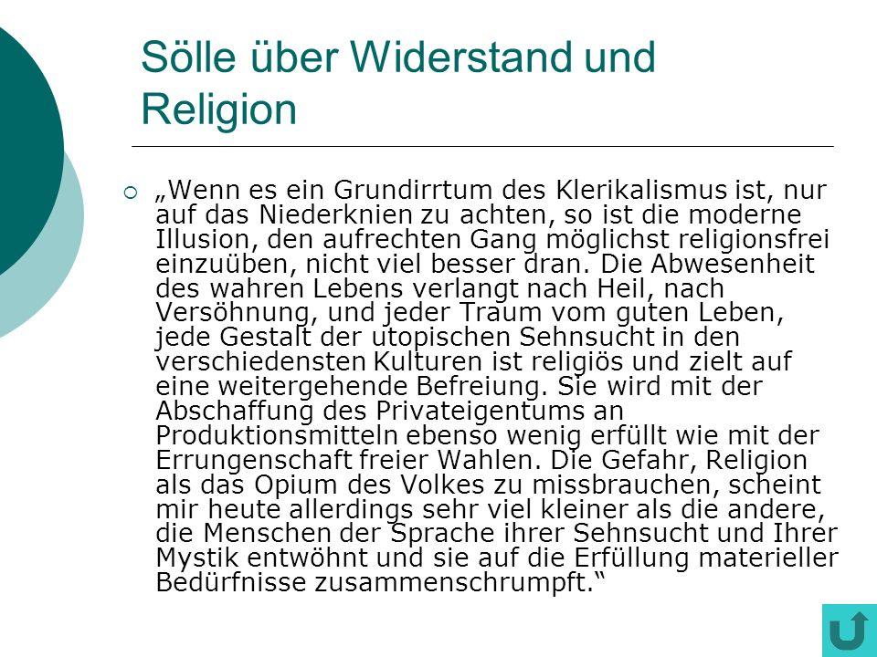 Sölle über Widerstand und Religion