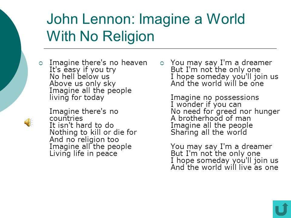 John Lennon: Imagine a World With No Religion