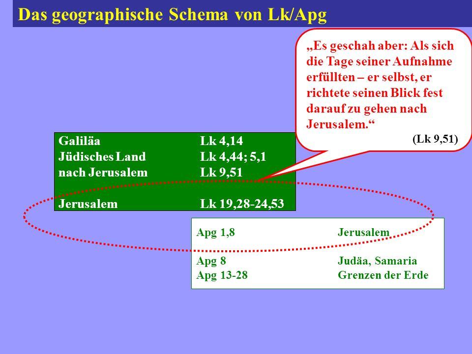 Das geographische Schema von Lk/Apg