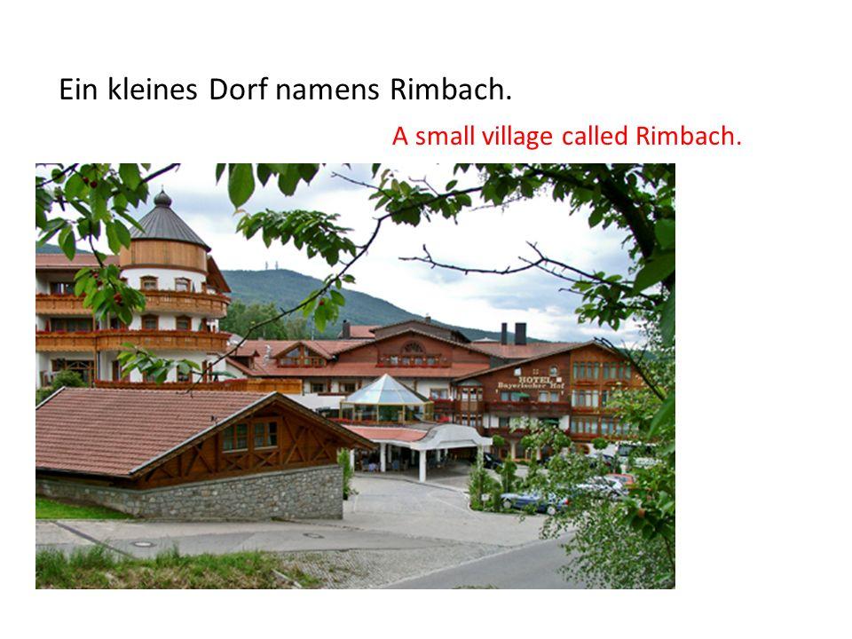 Ein kleines Dorf namens Rimbach.