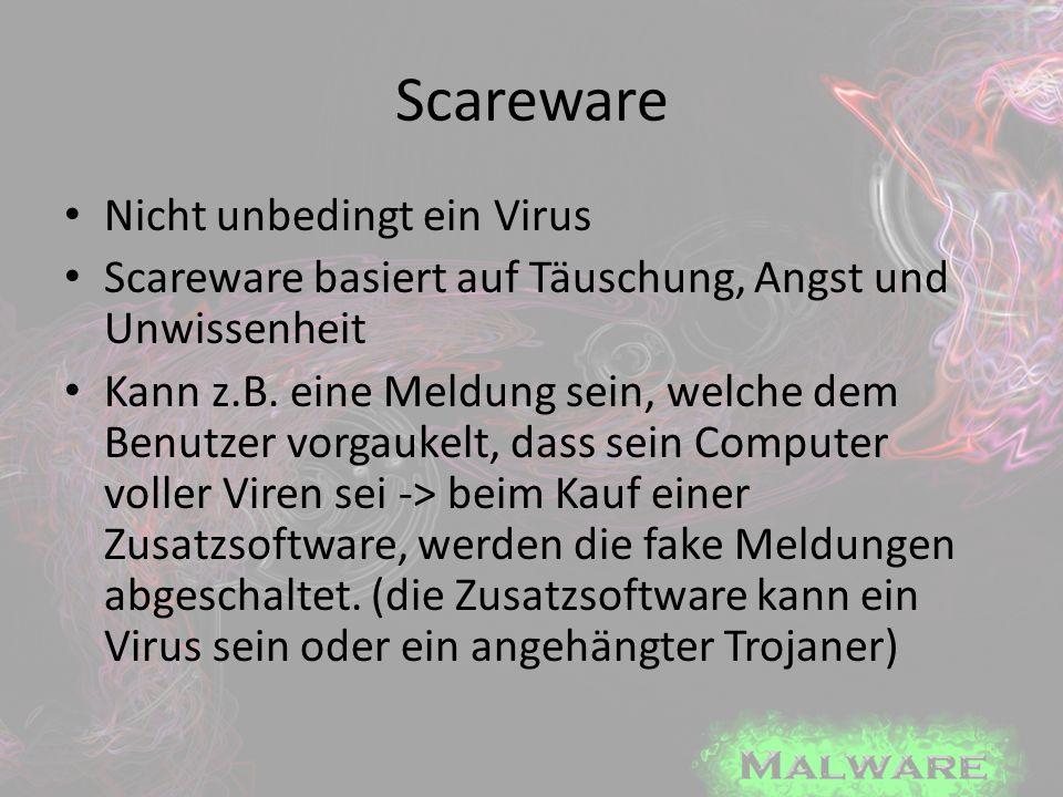 Scareware Nicht unbedingt ein Virus