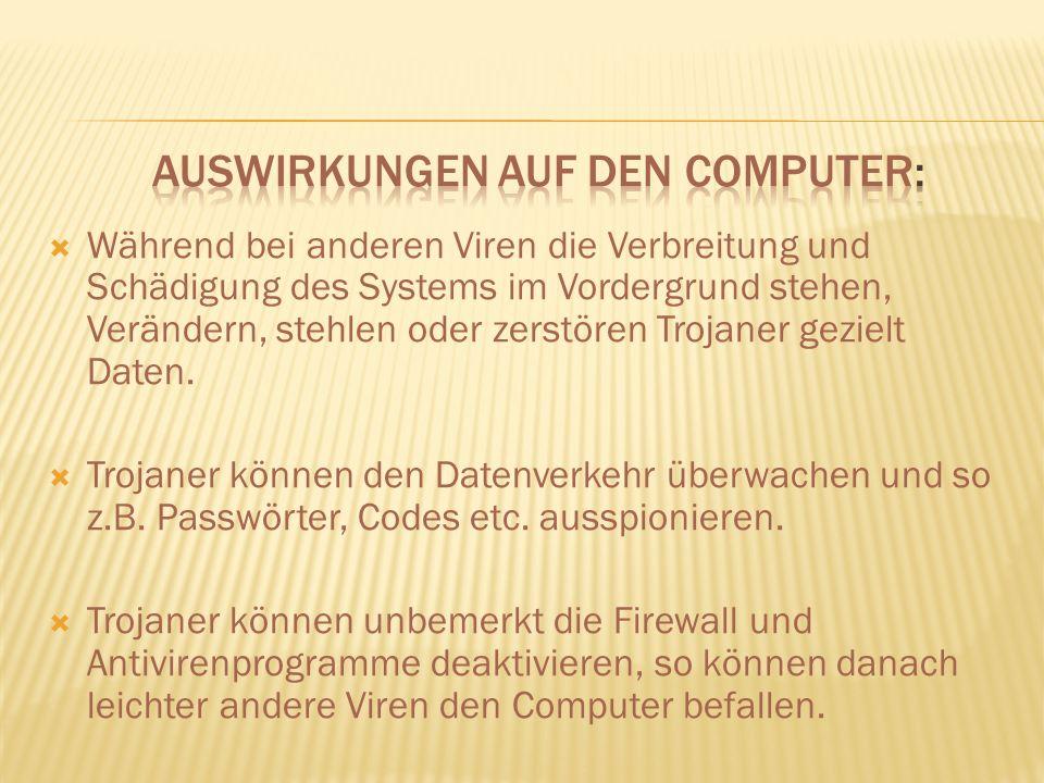 Auswirkungen auf den Computer: