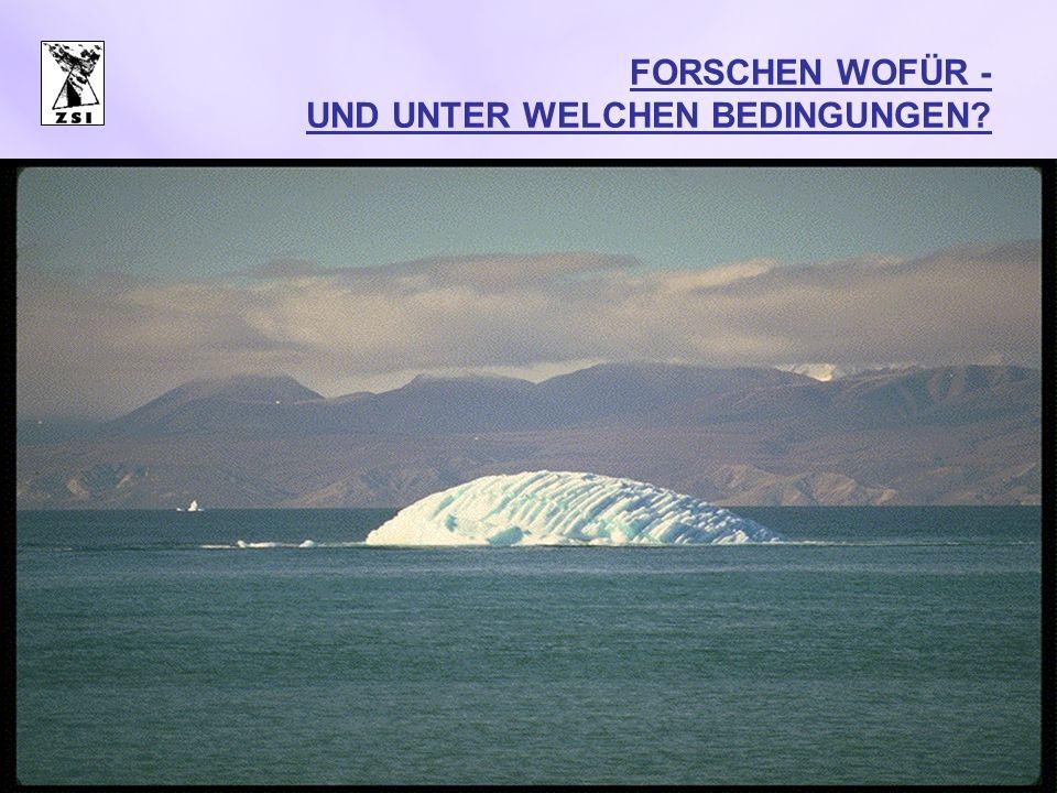 FORSCHEN WOFÜR - UND UNTER WELCHEN BEDINGUNGEN