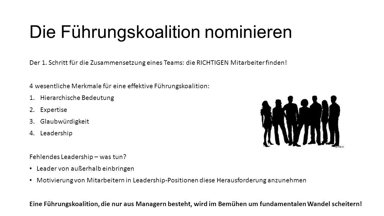 Die Führungskoalition nominieren