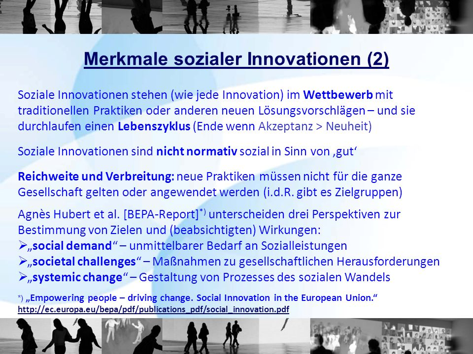 Merkmale sozialer Innovationen (2)