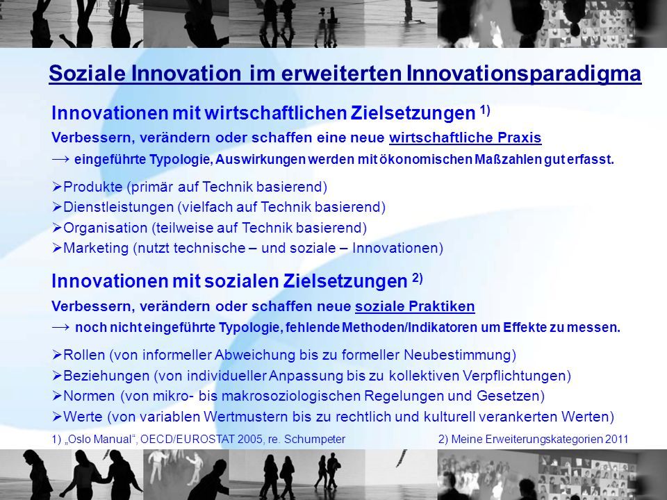 Soziale Innovation im erweiterten Innovationsparadigma