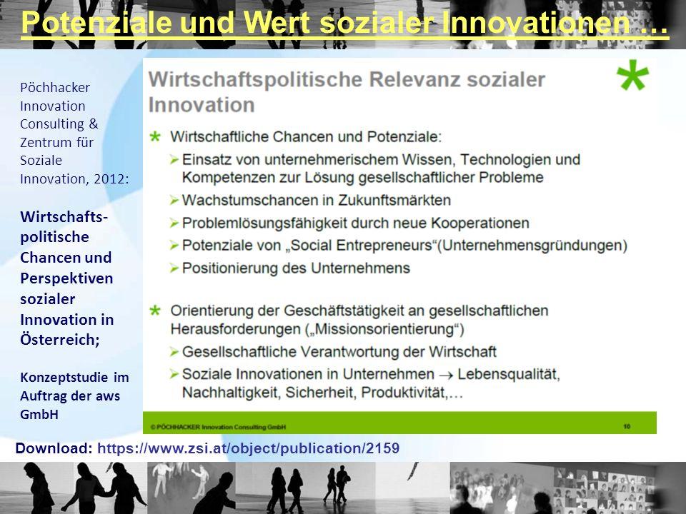 Potenziale und Wert sozialer Innovationen …