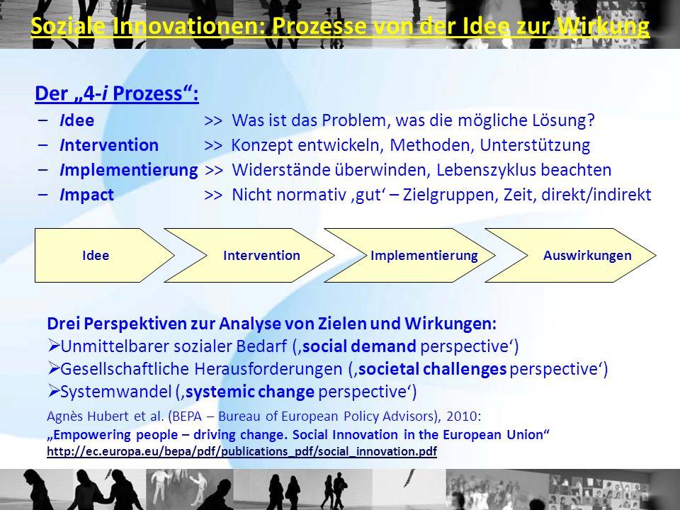 Soziale Innovationen: Prozesse von der Idee zur Wirkung