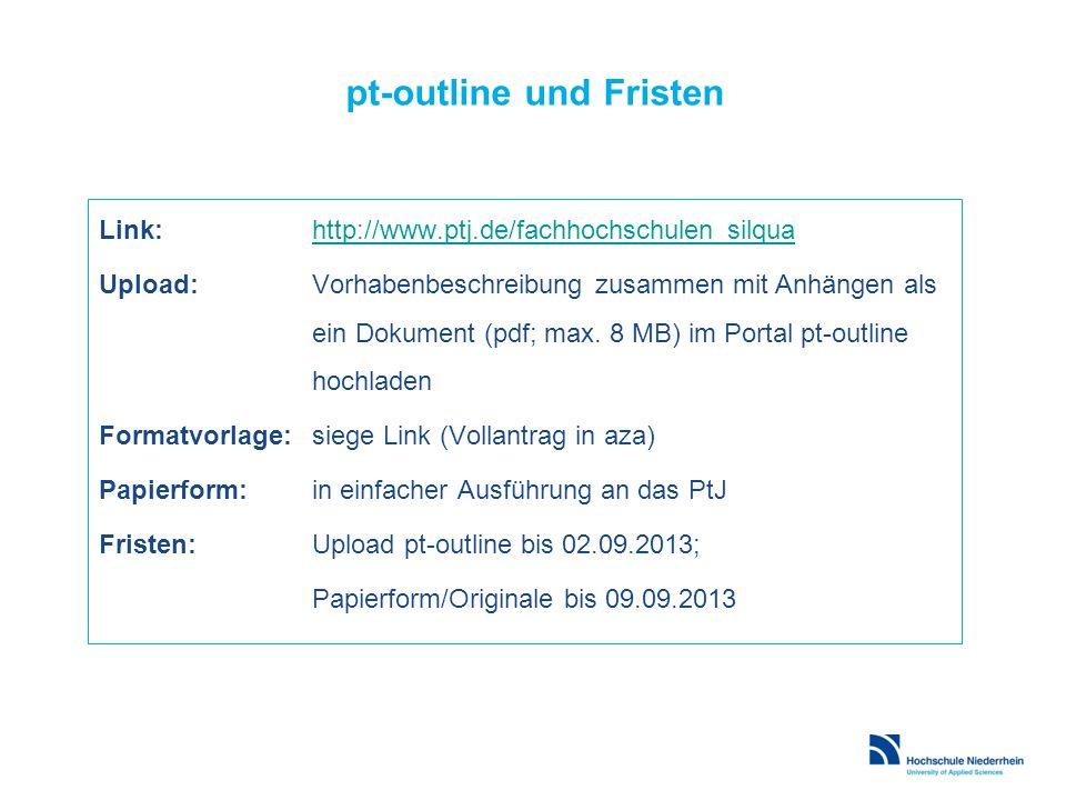 pt-outline und Fristen
