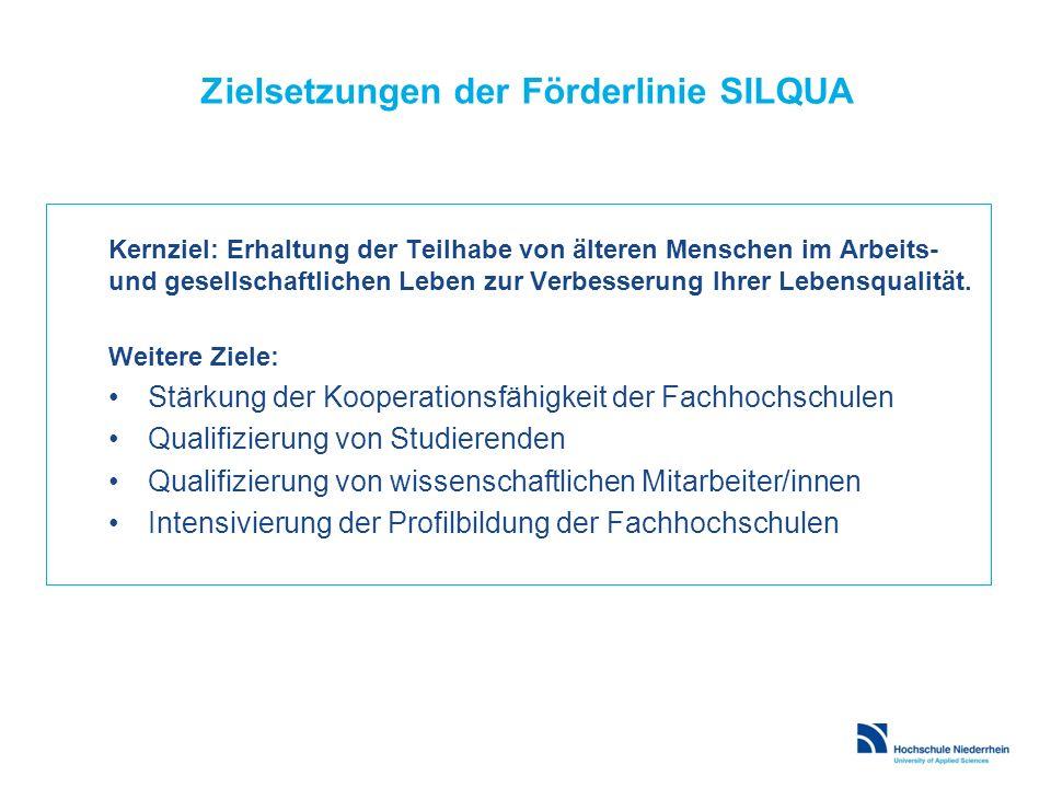 Zielsetzungen der Förderlinie SILQUA