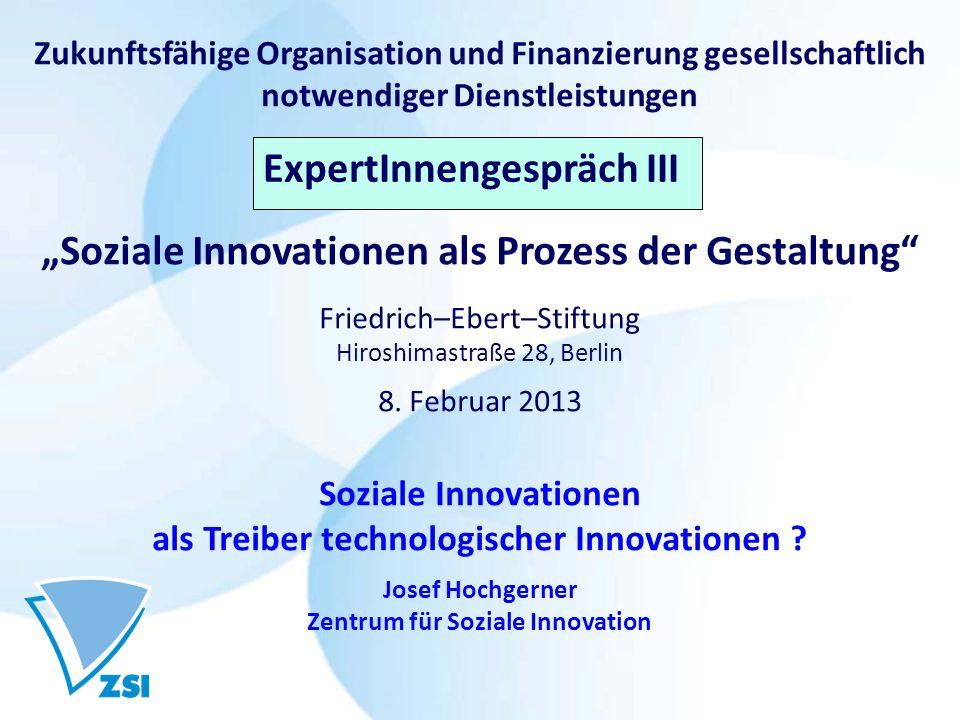"""Expertengespräch III """"Soziale Innovationen als Prozess der Gestaltung"""