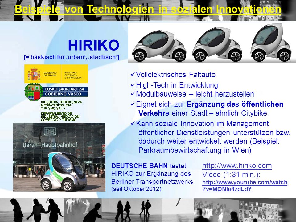 Beispiele von Technologien in sozialen Innovationen