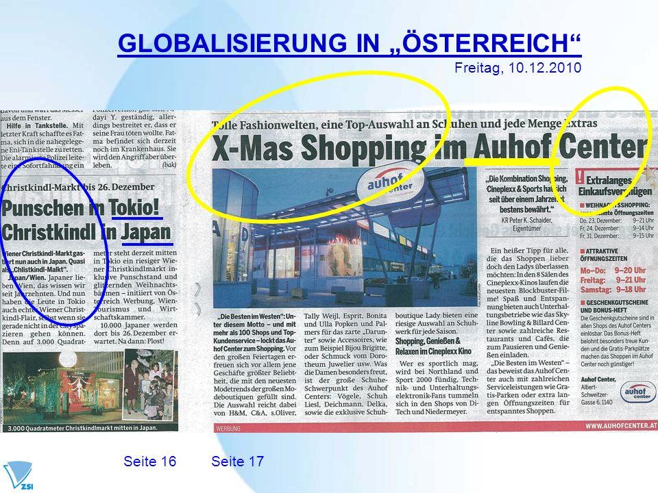 """GLOBALISIERUNG IN """"ÖSTERREICH"""