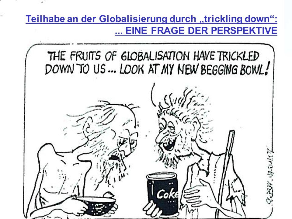 """Teilhabe an der Globalisierung durch """"trickling down :"""