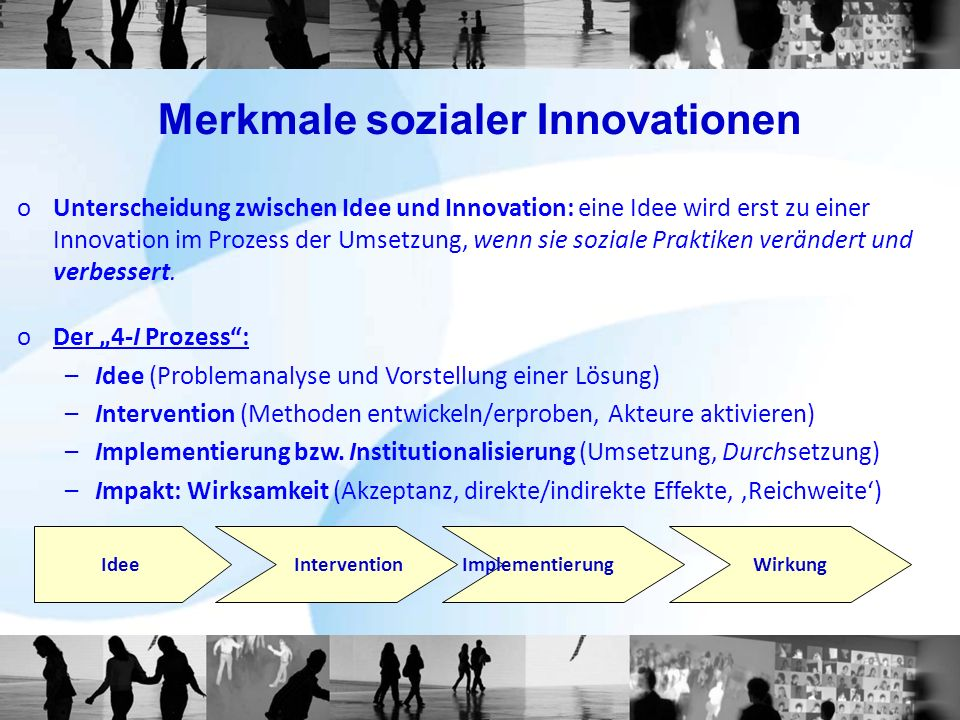 Merkmale sozialer Innovationen