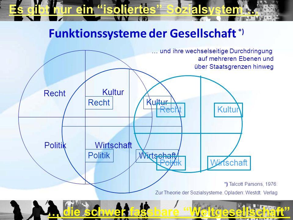 Funktionssysteme der Gesellschaft *)