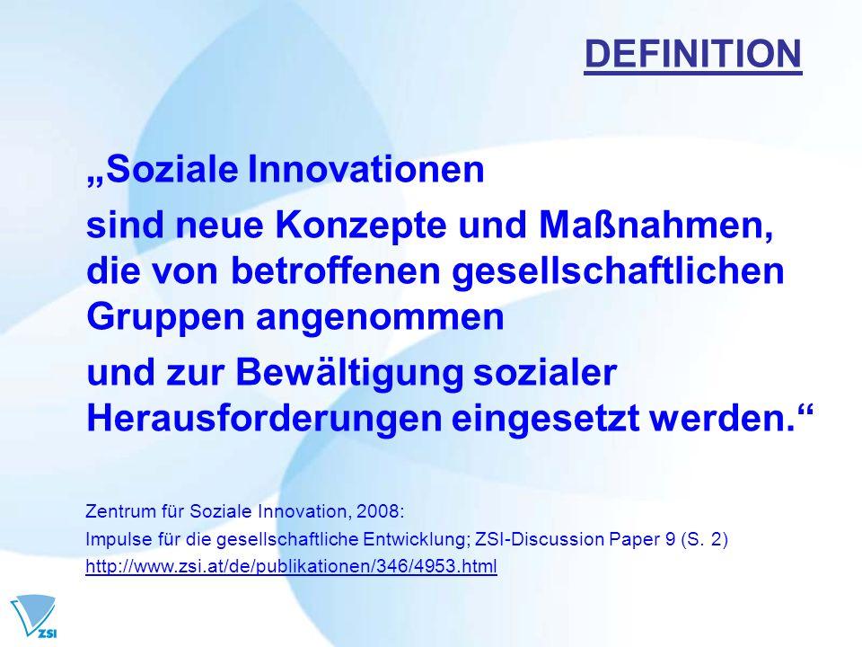 """""""Soziale Innovationen"""