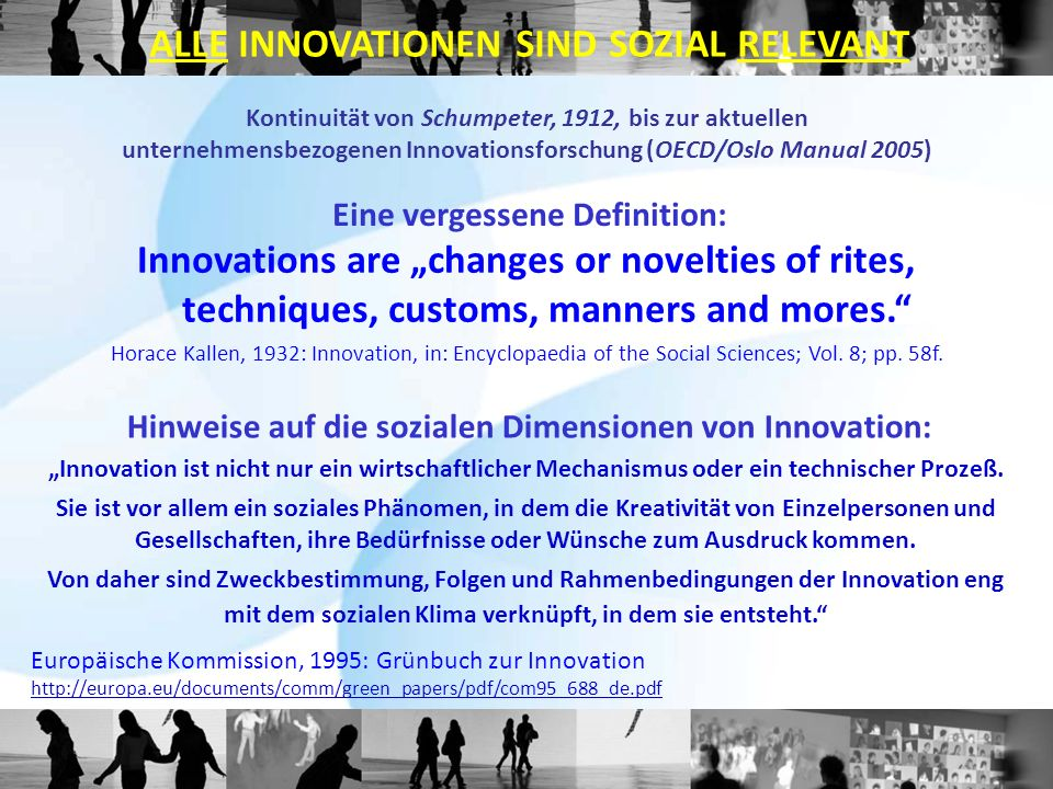 ALLE INNOVATIONEN SIND SOZIAL RELEVANT