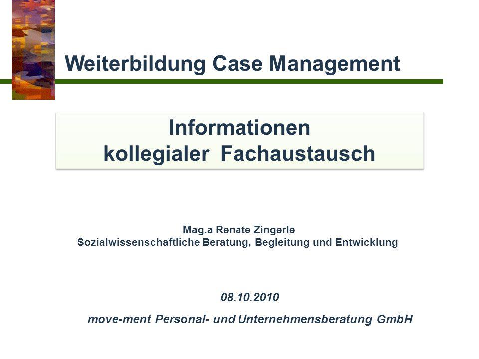 Informationen kollegialer Fachaustausch