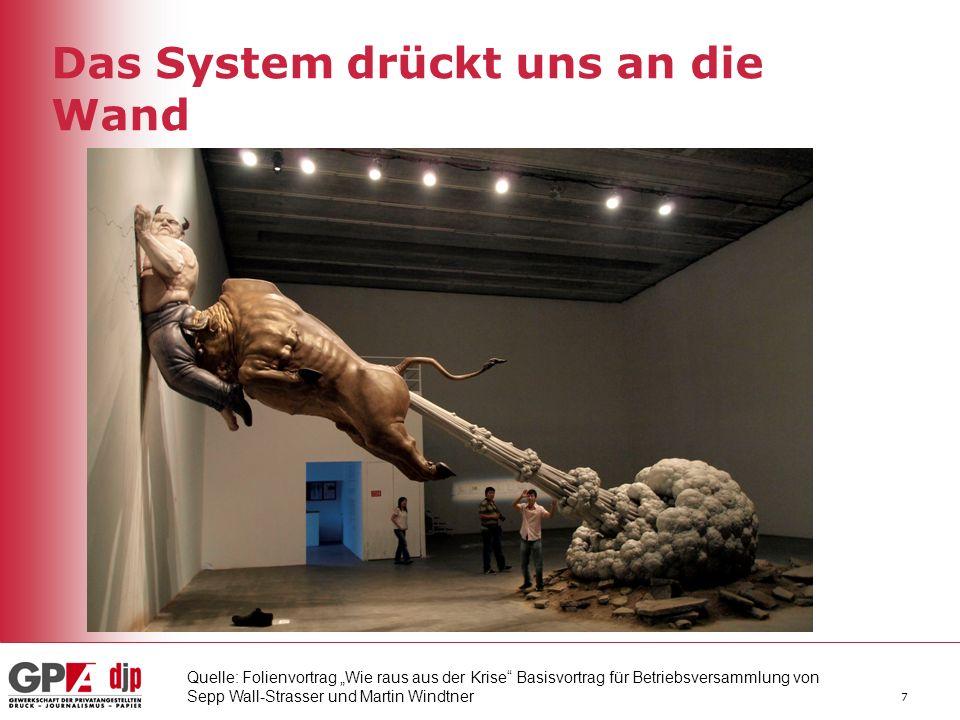Das System drückt uns an die Wand