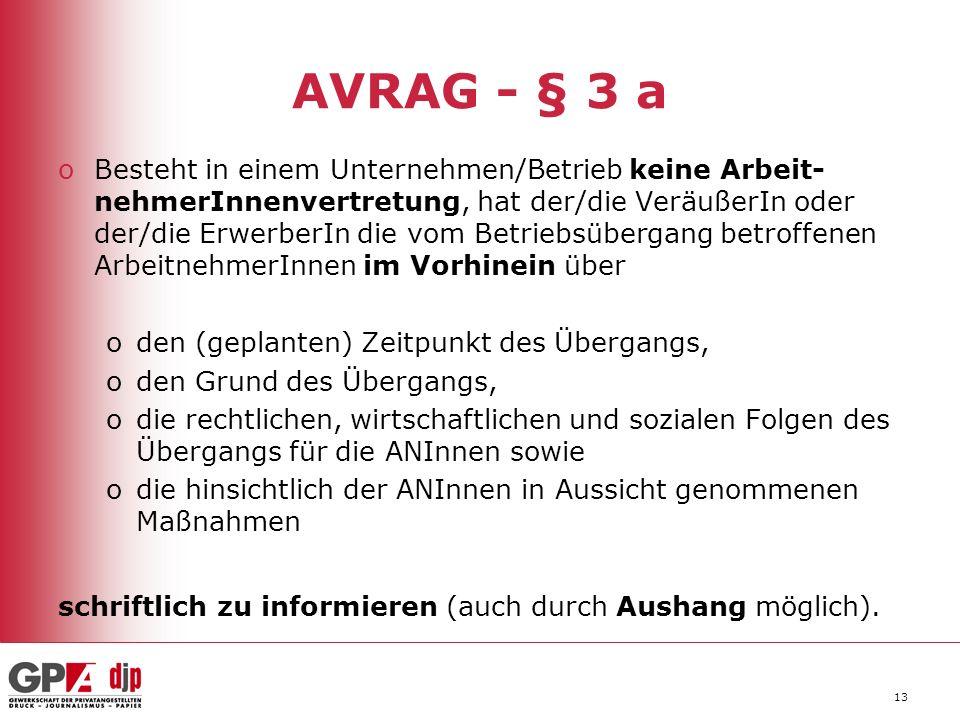 AVRAG - § 3 a