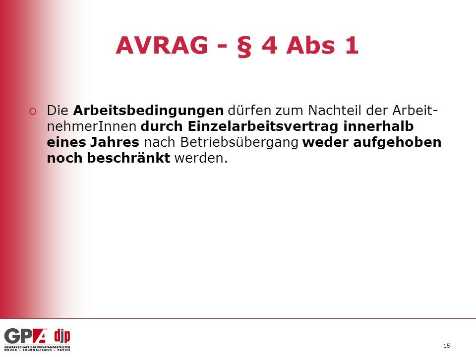 AVRAG - § 4 Abs 1