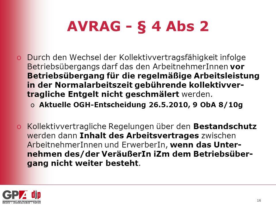 AVRAG - § 4 Abs 2