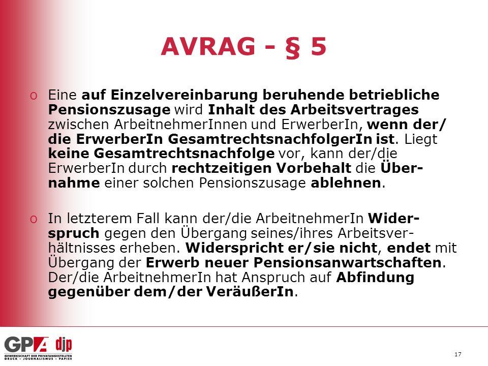 AVRAG - § 5