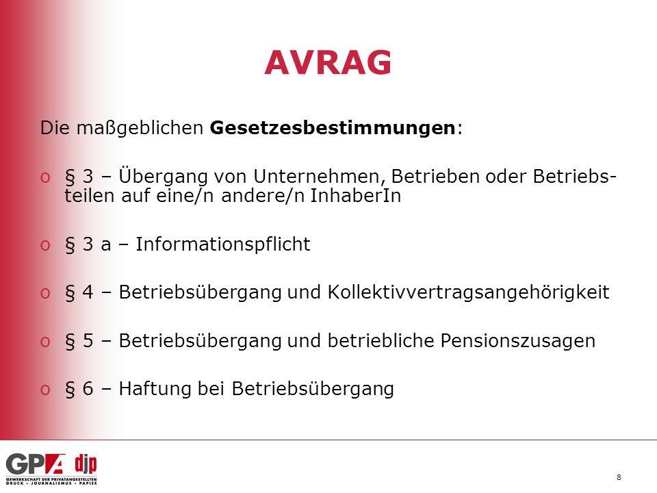 AVRAG Die maßgeblichen Gesetzesbestimmungen: