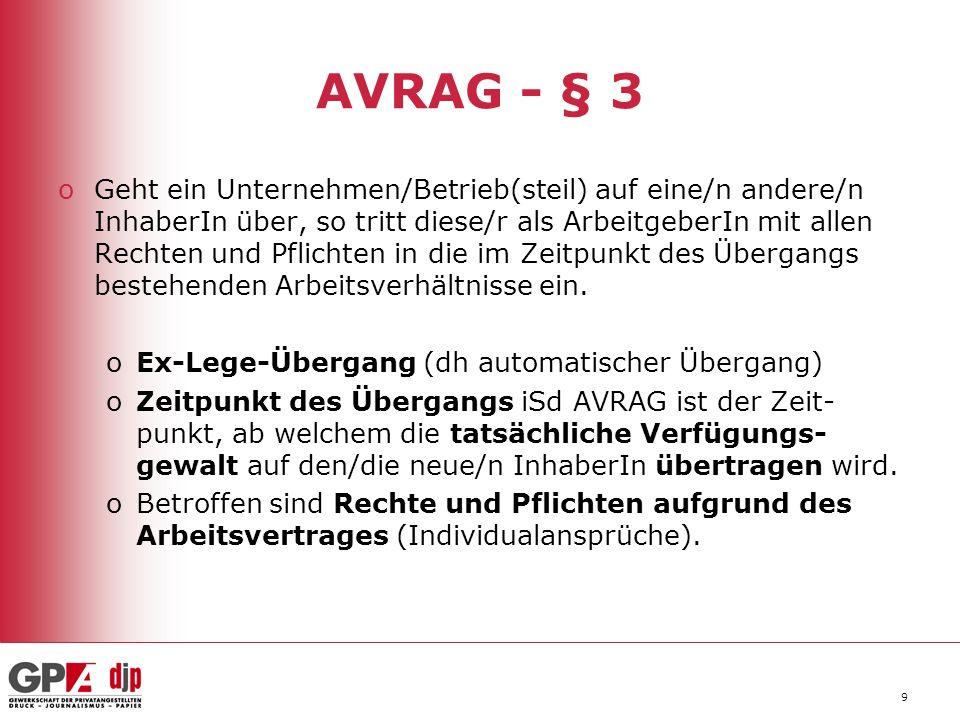 AVRAG - § 3