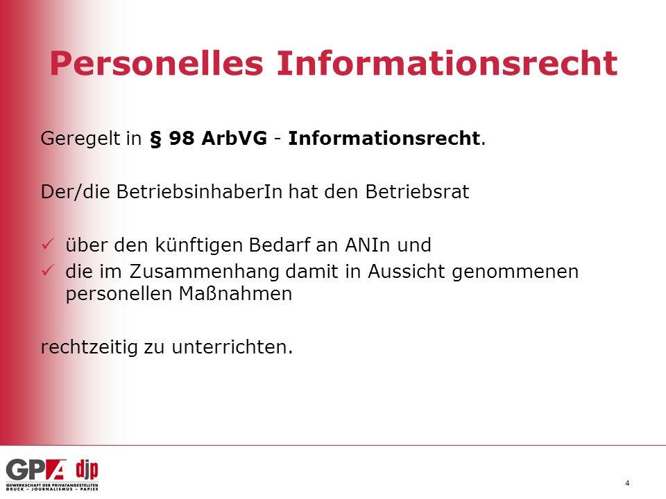 Personelles Informationsrecht
