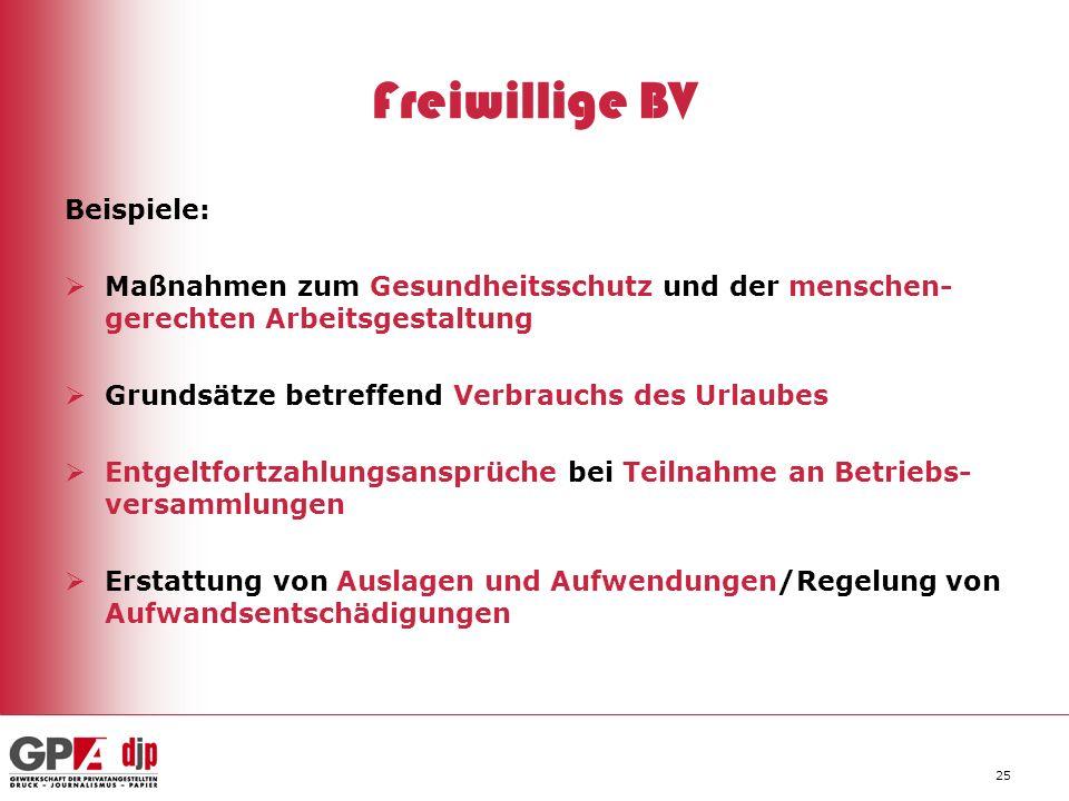 Freiwillige BV Beispiele: