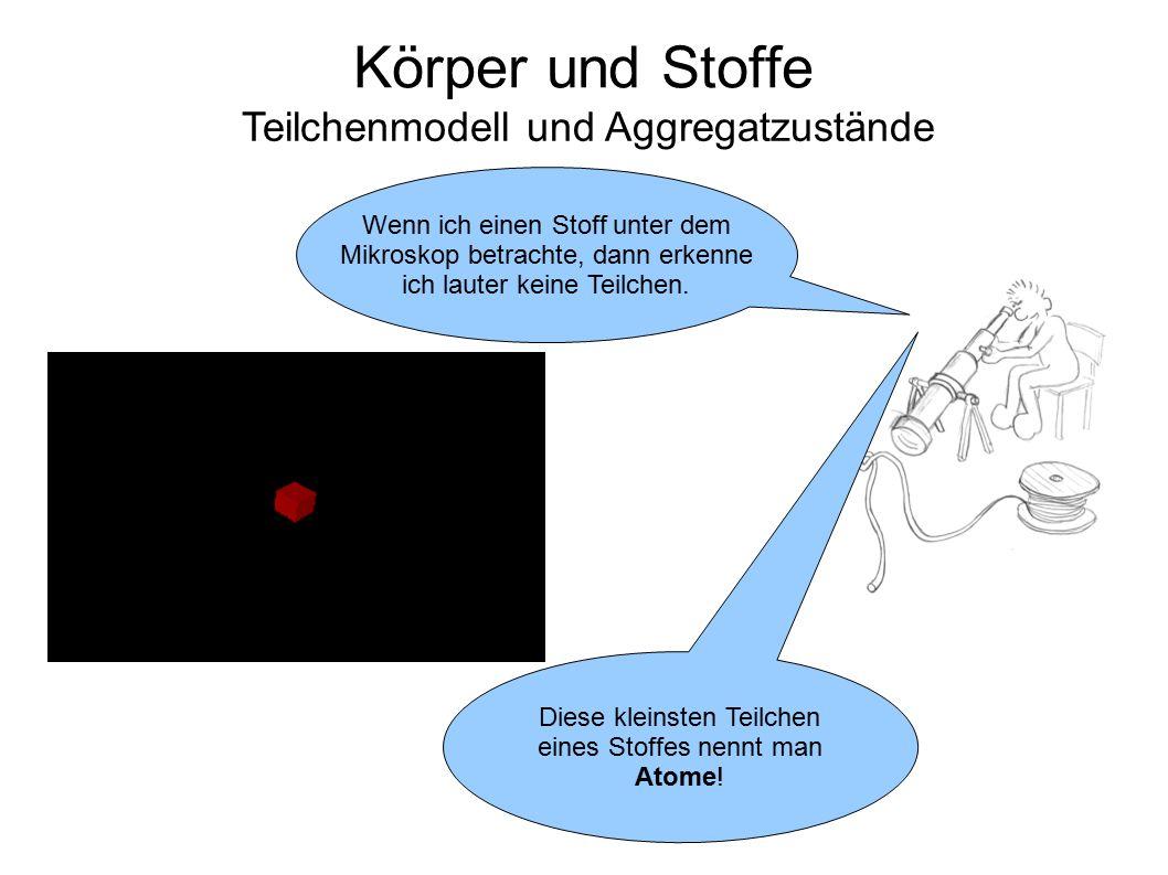Körper und Stoffe Teilchenmodell und Aggregatzustände