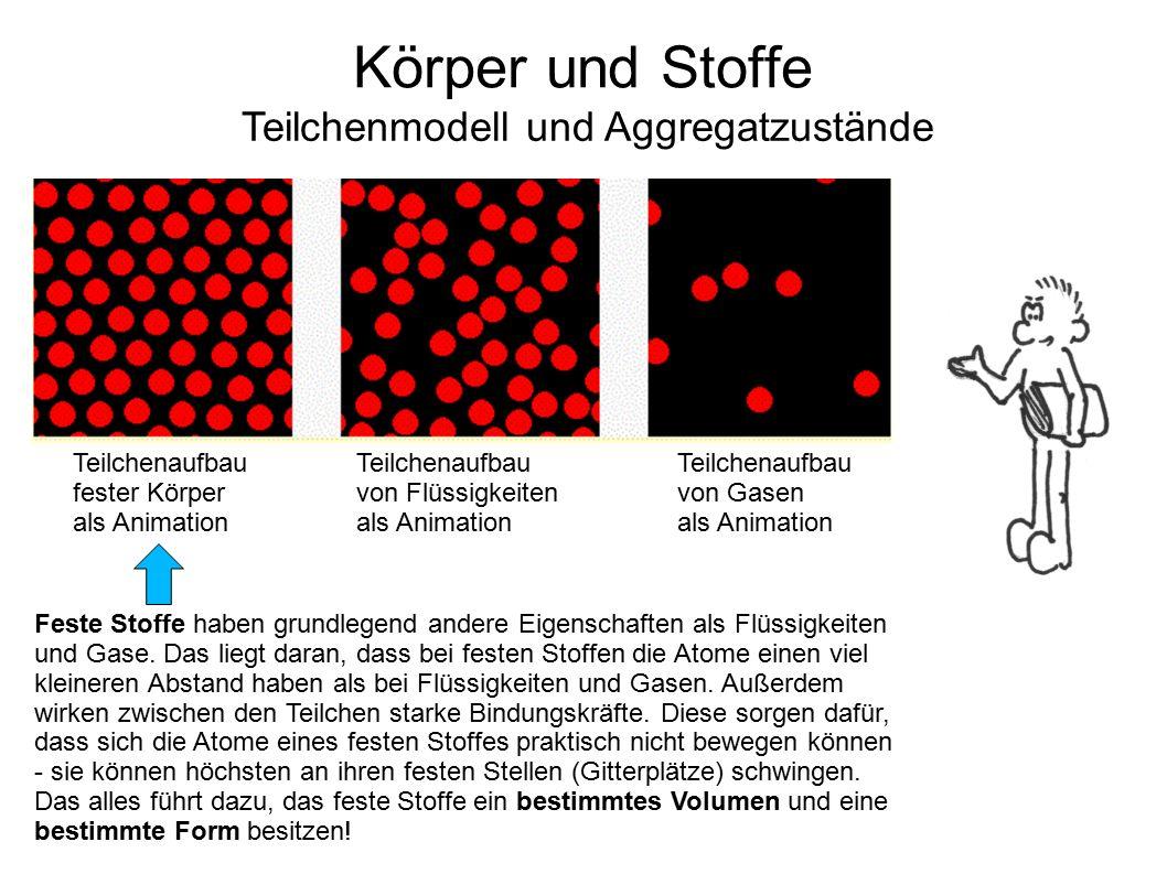 Teilchenmodell und Aggregatzustände