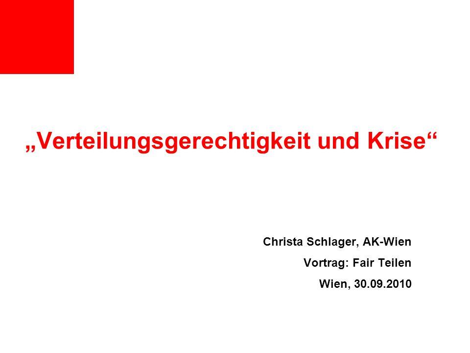 """""""Verteilungsgerechtigkeit und Krise"""