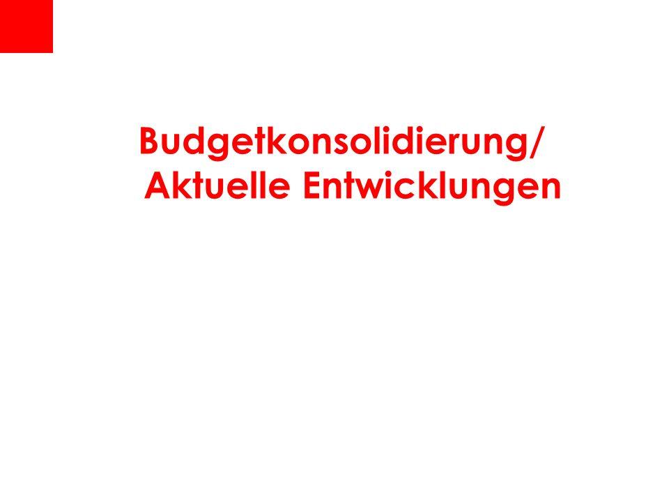 Budgetkonsolidierung/ Aktuelle Entwicklungen