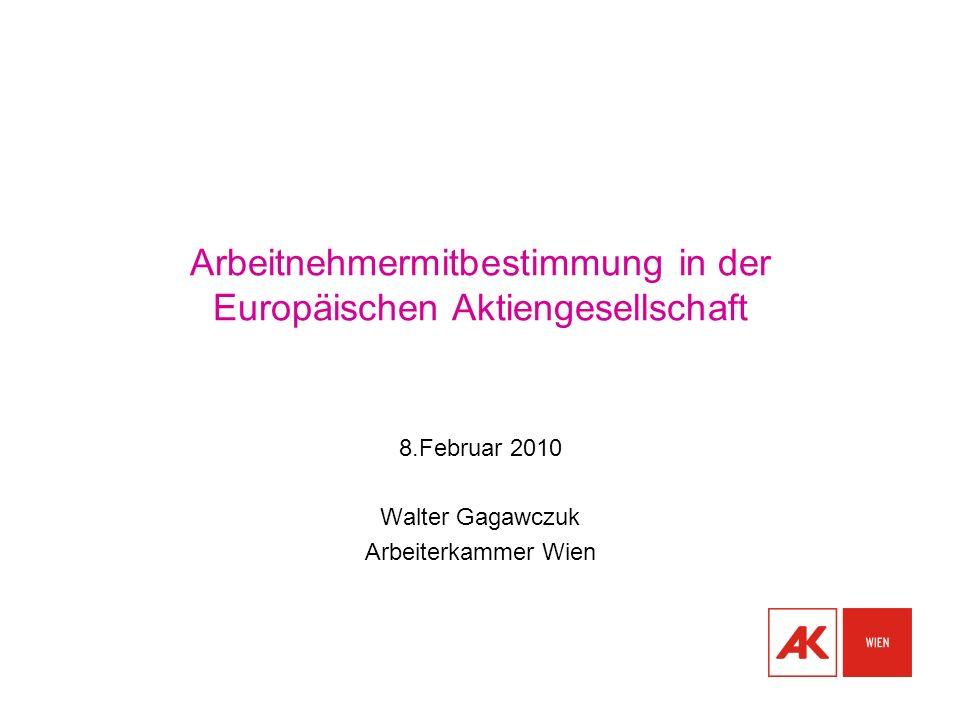 Arbeitnehmermitbestimmung in der Europäischen Aktiengesellschaft