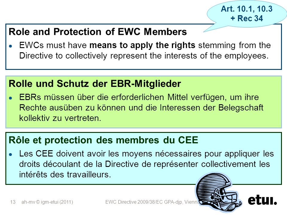 Role and Protection of EWC Members
