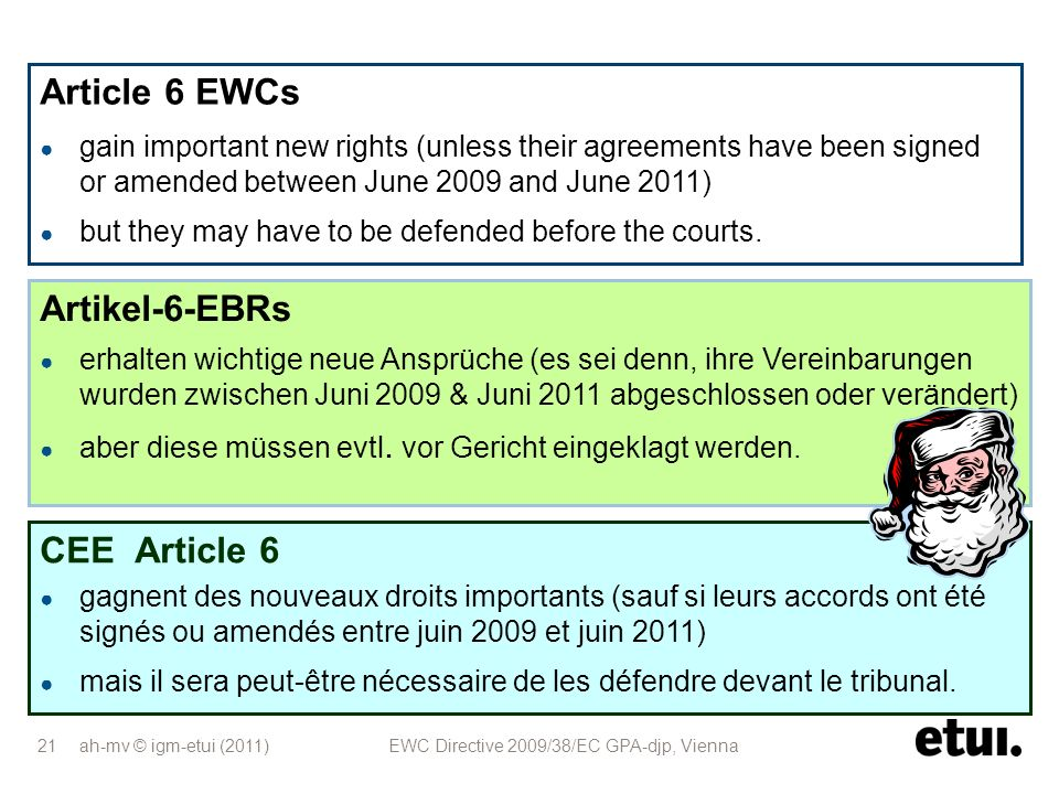 Article 6 EWCs Artikel-6-EBRs CEE Article 6