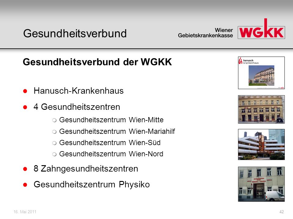 Gesundheitsverbund Gesundheitsverbund der WGKK Hanusch-Krankenhaus